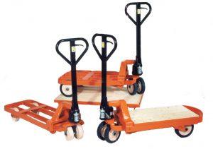Rahmenhubwagen in verschiedenen Bauweisen
