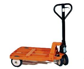 Ein Rahmenhubwagen für den Umbau mit Rungengestell oder Kaulengestell