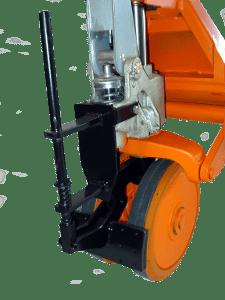 Deichselbremse für Rahmenhubwagen HNs und HNb in Nahansicht