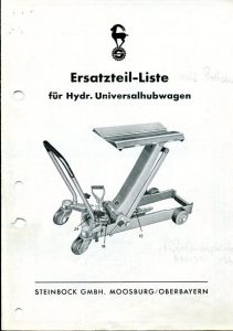 Universalhubwagen Geschichte Steinbock Hubwagen