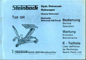 Bedienungsanleitung Universalhubwagen von 1972