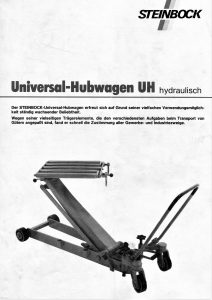 Universalhubwagen Rollentragbrücke Steinbock