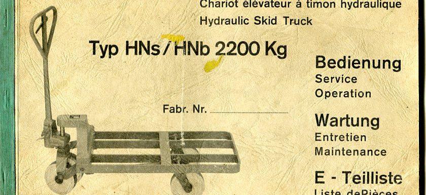 Rahmenhubwagen HN Steinbock Bedienungsanleitung